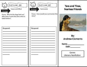 Reading Street 2nd Grade Tara and Tiree Trifold