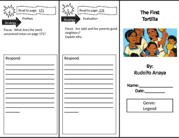 Reading Street 2nd Grade The First Tortilla Trifold by Mrs GC | TpT