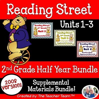 Reading Street 2nd Grade Unit 1-2-3 Bundle Supplemental Materials