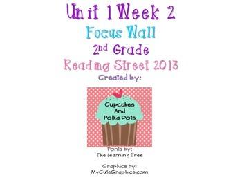 Reading Street 2nd Grade Unit 1 Week 2 Focus Wall