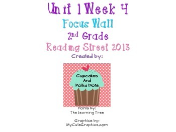 Reading Street 2nd Grade Unit 1 Week 4 Focus Wall