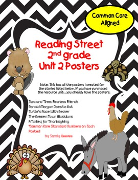 Reading Street 2nd Grade Unit 2 Poster Pack Tara and Tiree and Others
