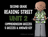 Reading Street 2nd Grade Unit 2 Story Comprehension Quizzes