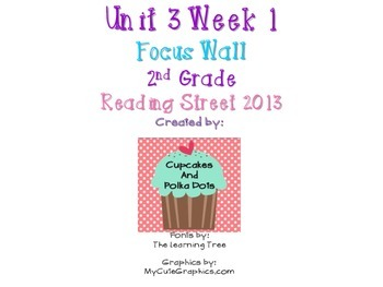 Reading Street 2nd Grade Unit 3 Week 1 Focus Wall