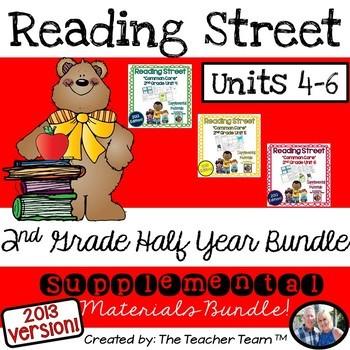 Reading Street 2nd Grade Unit 4-5-6 Half Year Bundle Common Core 2013