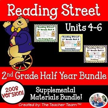 Reading Street 2nd Grade Unit 4 - Unit 6 Printables Bundle | 2008