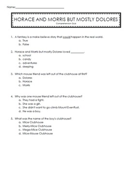 Reading Street 2nd Grade Unit 5 Story Comprehension Quizzes