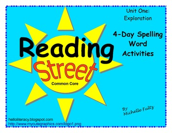 Reading Street 2nd grade Spelling for Unit 1