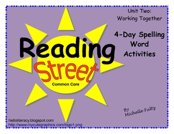 Reading Street 2nd grade Spelling for Unit 2