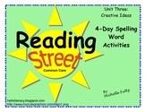 Reading Street 2nd grade Spelling for Unit 3
