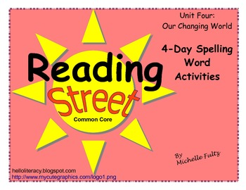 Reading Street 2nd grade Spelling for Unit 4