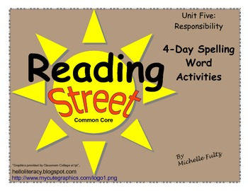 Reading Street 2nd grade Spelling for Unit 5