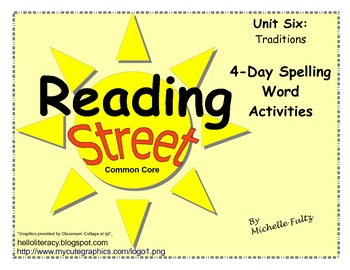Reading Street 2nd grade Spelling for Unit 6