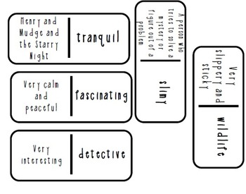 Reading Street 2nd grade Unit 1 Week 3 Vocabulary Dominoes