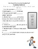 Reading Street 3.2 Vocabulary Handouts, Definitions, and S