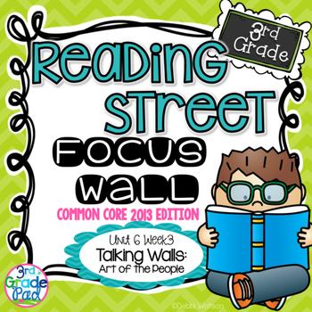 Reading Street 3rd Grade 2013 Focus Wall Set Unit 6 Week 3