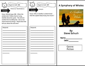 Reading Street 3rd Grade A Symphony of Whales Trifold