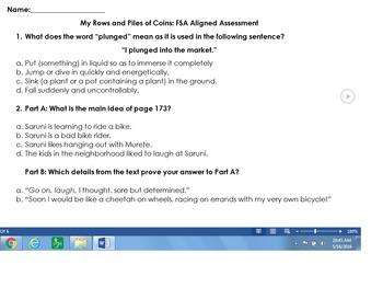 Reading Street - 3rd Grade - FSA Aligned Assessments BUNDLE