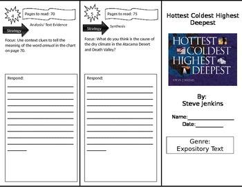 Reading Street 3rd Grade Hottest Coldest Highest Deepest Trifold