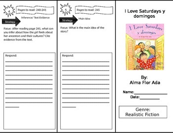 Reading Street 3rd Grade I Love Saturdays y domingos Trifold
