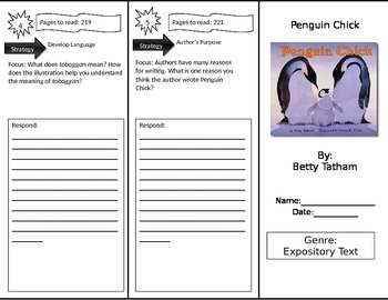 Reading Street 3rd Grade Penguin Chick Trifold