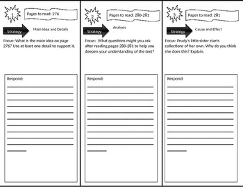 Reading Street 3rd Grade Prudy's Problem Trifold