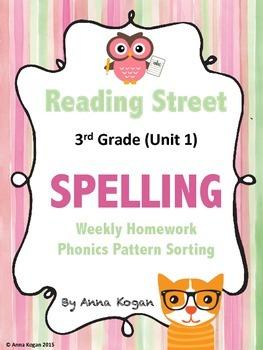 Reading Street 3rd Grade Spelling Homework