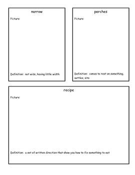 Reading Street 3rd Grade Story Vocabulary Worksheets 2 - 6