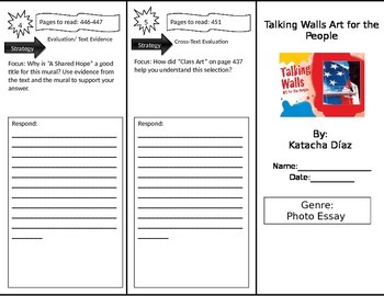 Reading Street 3rd Grade Talking Walls Trifold