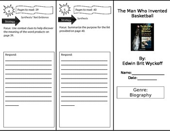 Reading Street 3rd Grade The Man Who Invented Basketball Trifold