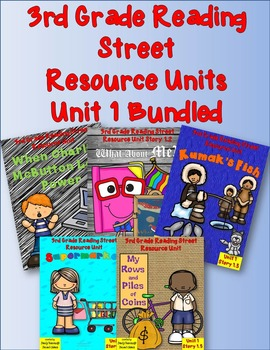 Reading Street 3rd Grade UNIT 1  Resource Packs! Bundled!