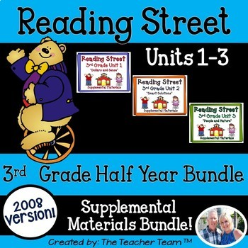 Reading Street 3rd Grade Unit 1-2-3 2008 edition Supplemental Materials
