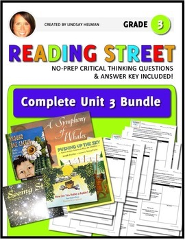 Reading Street 3rd Grade: Unit 3 NO PREP Comprehension Bundle