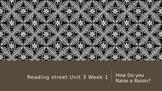Reading Street 3rd Grade Unit 3 Lesson 1 How Do You Raise A Raisin