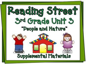 Reading Street 3rd Grade Unit 3 Supplemental Materials