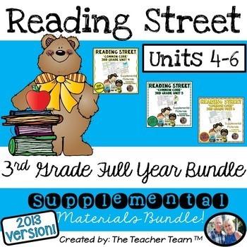 Reading Street 3rd Grade Unit 4-6 Bundle Common Core 2013 Supplemental Materials