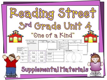 "Reading Street 3rd Grade Unit 4 ""One of a Kind"" Supplemental Materials"