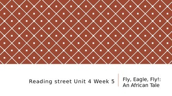 Reading Street 3rd Grade Unit 4 Week 5 Fly, Eagle, Fly!: A