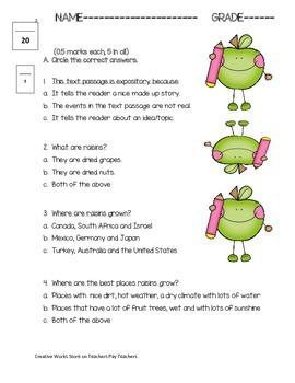 Reading Street 3rd Grade Unit Three Quizzes Bundled