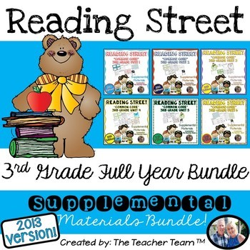 Reading Street Common Core 3rd Grade Units 1-6 Full Year Bundle 2013
