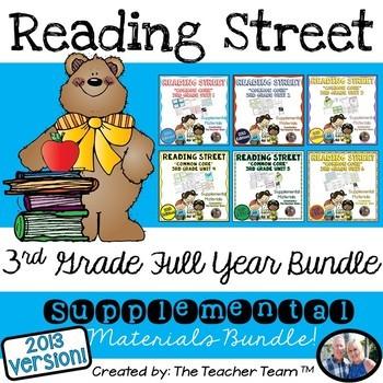 Reading Street 3rd Grade Common Core Unit 1-6 Full Year Bundle 2013