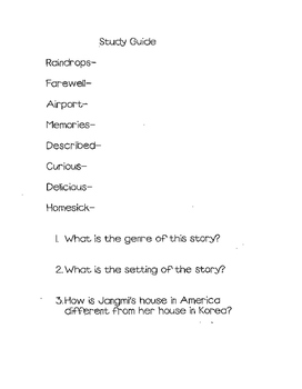 Reading Street 3rd grade Study Guide Unit 5 Goodbye, 382 S