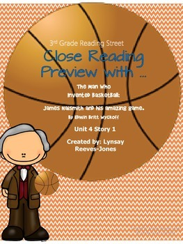 FREE Reading Street 3rd grade The Man Who Invented Basketball Preview