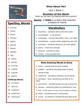 Reading Street 3rd grade Unit 1 Review sheets (Bundle)