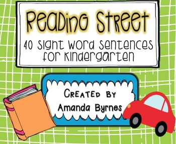 Reading Street 40 Sight Word Sentence Strips