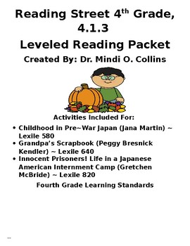 Reading Street 4th Grade 4.1.3 Leveled Reader Packet