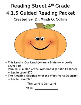 Reading Street 4th Grade 4.1.5 Leveled Reader Packet