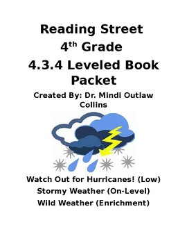 Reading Street 4th Grade ~ 4.3.4 Leveled Book Packet