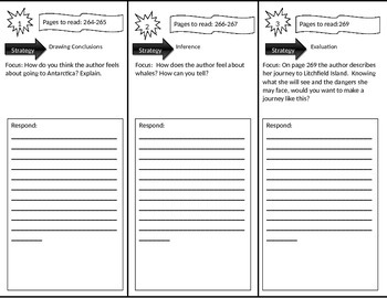 Reading Street 4th Grade Antarctic Journal Trifold