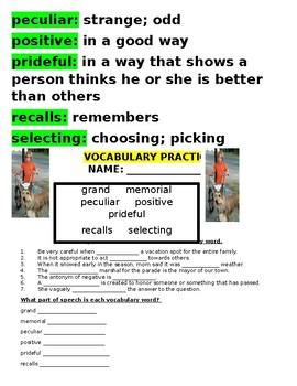 Reading Street 4th Grade ~ Because of Winn Dixie Bundled Packet